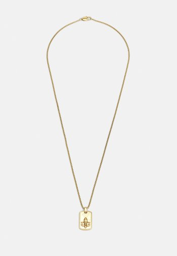 TAG PLATE GIGLIO UNISEX - Necklace - antique gold-coloured
