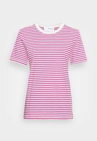 SLFMY PERFECT SS TEE BOX CUT STR COLOR B - T-shirts med print - rose violet