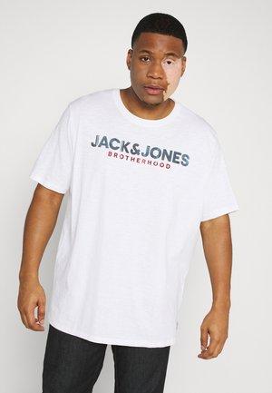JJ30JONES SLUB TEE CREW NECK - Camiseta estampada - cloud dancer