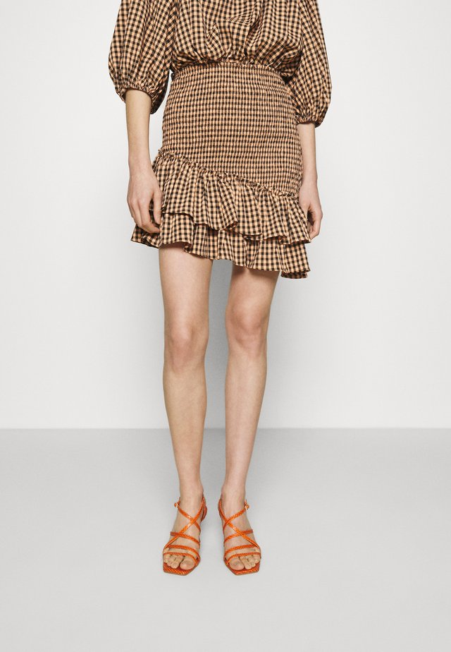 THE CHECKED OUT SKIRT - Minihame - orange