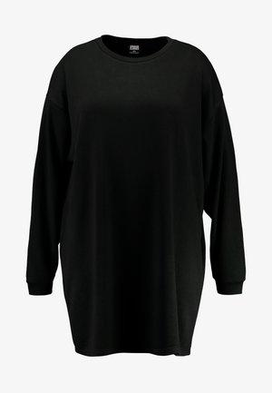 LADIES TERRY CREW DRESS - Jurk - black