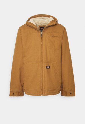 DUCK SHERPA JACKET - Overgangsjakker - brown duck