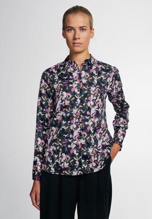 MODERN CLASSIC - Button-down blouse - anthrazit/violett