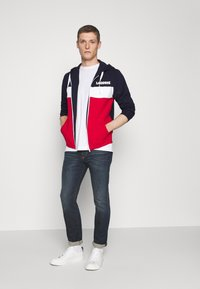 Lacoste - Mikina na zip - navy blue/red/white
