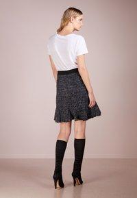 KARL LAGERFELD - SPARKLE BOUCLE - A-line skirt - mood indigo - 2