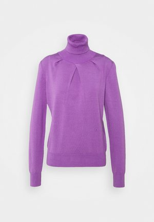 BLEND LAYERING PLEAT DETAIL - Pullover - purple