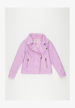 Faux leather jacket - purple