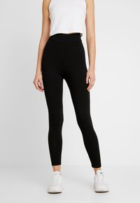 Missguided - HIGH WAISTED 2 PACK - Leggings - Trousers - black