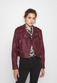 Morgan - GRAMMO - Faux leather jacket - bordeaux - 0