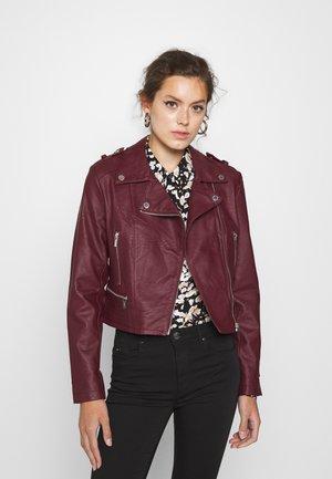 GRAMMO - Faux leather jacket - bordeaux