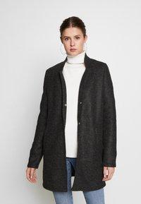 Vero Moda Tall - VMBRUSHEDKATRINE JACKET - Classic coat - dark grey melange - 0
