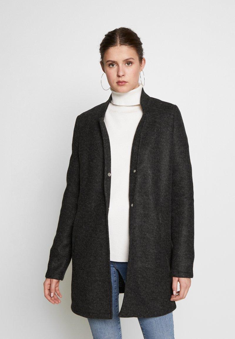 Vero Moda Tall - VMBRUSHEDKATRINE JACKET - Classic coat - dark grey melange