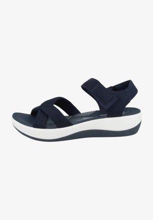 ARLA GRACIE - Platform sandals - navy txtile