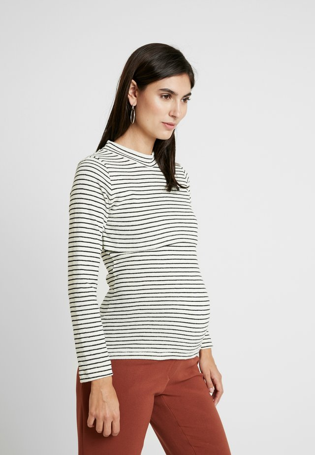 LONG SLEEVE NURSING STRIPE - Neule - blue