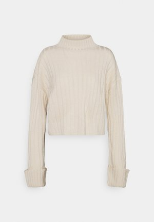 CROPPED TURTLE NECK - Pullover - beige