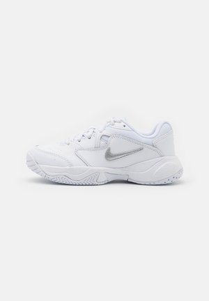 COURT Jr.  LITE 2 UNISEX - Zapatillas de tenis para todas las superficies - white/metallic silver