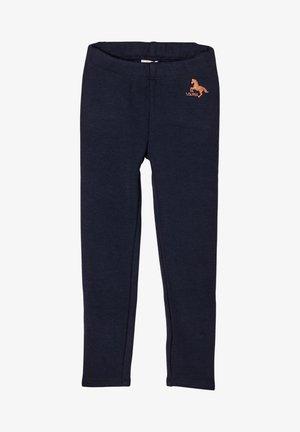 MIT GLITZERPRINT-DETAIL - Leggings - Trousers - blue
