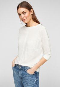 s.Oliver - MET 3/4-MOUWEN - Long sleeved top - offwhite - 0