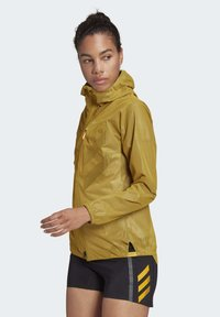 adidas Performance - TERREX AGRAVIC RAIN JACKET - Regnjakke / vandafvisende jakker - gold - 3