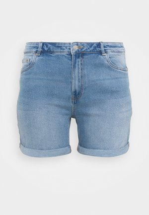 VMJOANA MOM - Denim shorts - light blue denim
