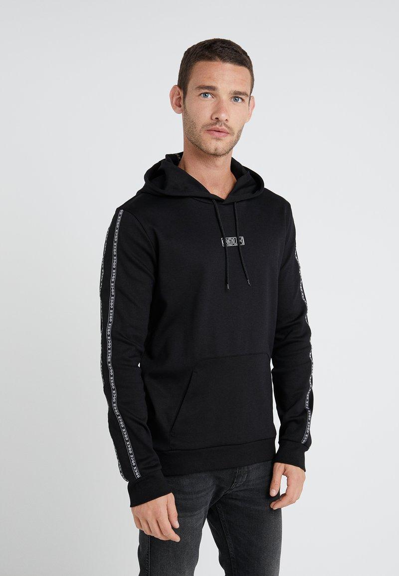 HUGO - DERCOLANO - Bluza z kapturem - black