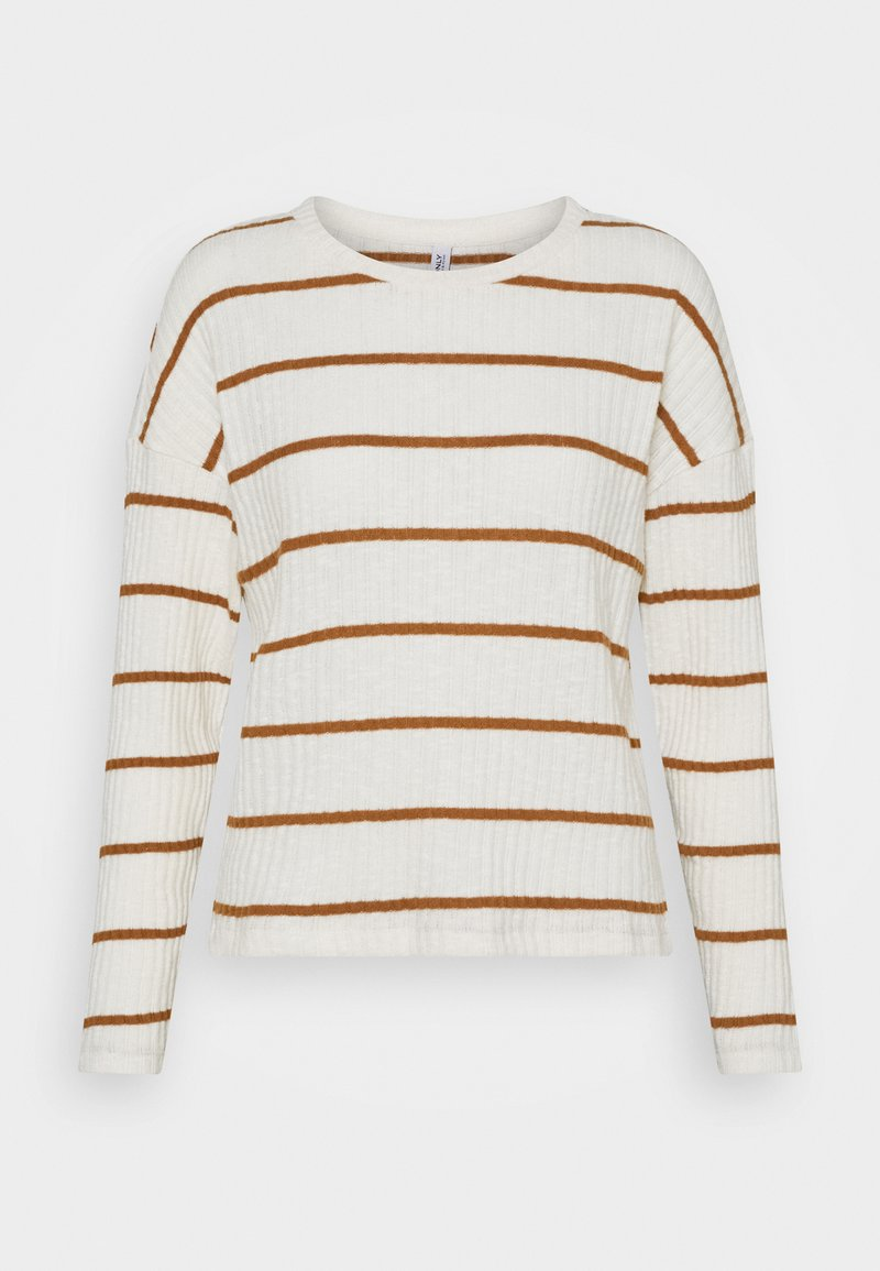 ONLY - ONLCARLA TOP - Jumper - cloud dancer/toasted coconut