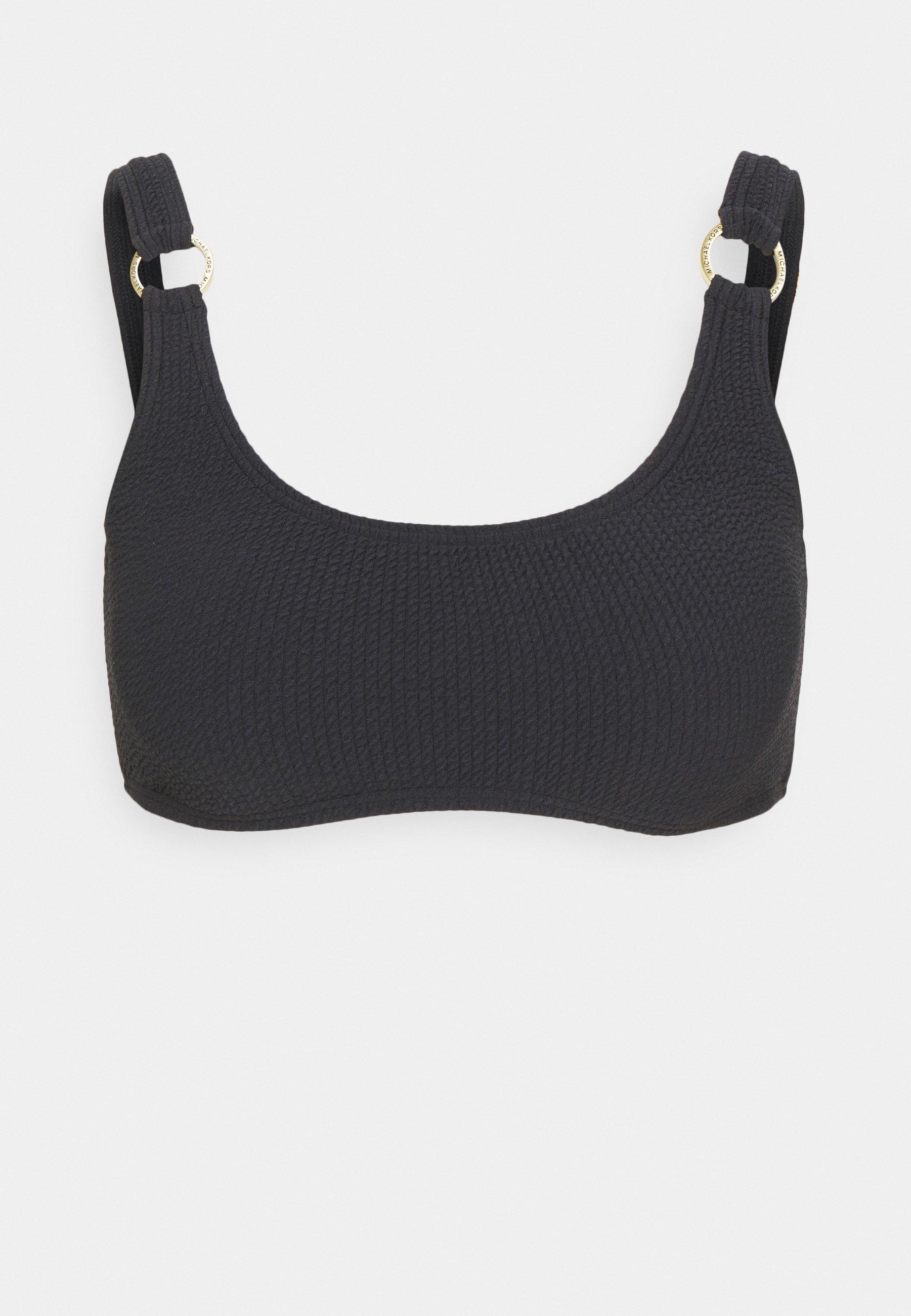 Women SOLID TEXTURE U NECK BRALETTE - Bikini top
