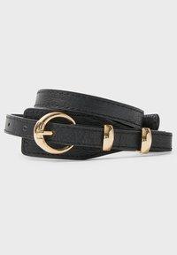Stradivarius - Waist belt - black - 3