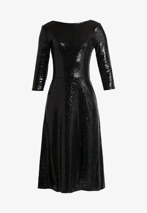 BLACK ON BLACK SEQUIN MIDI - Robe de soirée - black