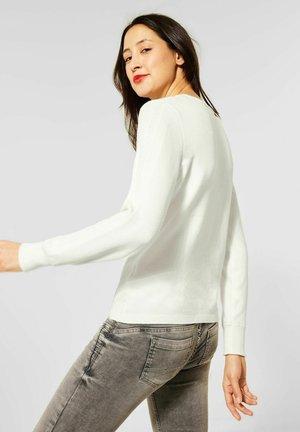 MIT ÄRMELDETAIL - Sweatshirt - weiß