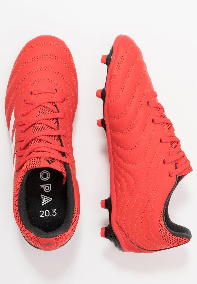 COPA 20.3 FG - Voetbalschoenen met kunststof noppen - active red/footwear white/core black