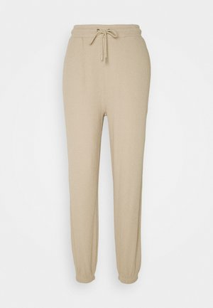 STRUCTURED  - Tracksuit bottoms - beige