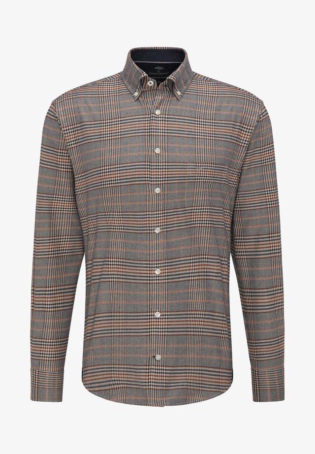 Shirt - taupe check