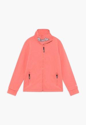 MONICA - Zip-up hoodie - coral