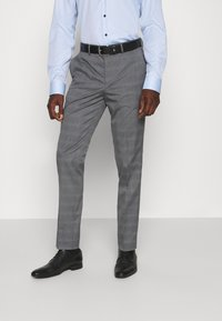 Selected Homme - SLHSLIM-NAS GREY CHECK SUIT - Oblek - grey/blue/white - 4