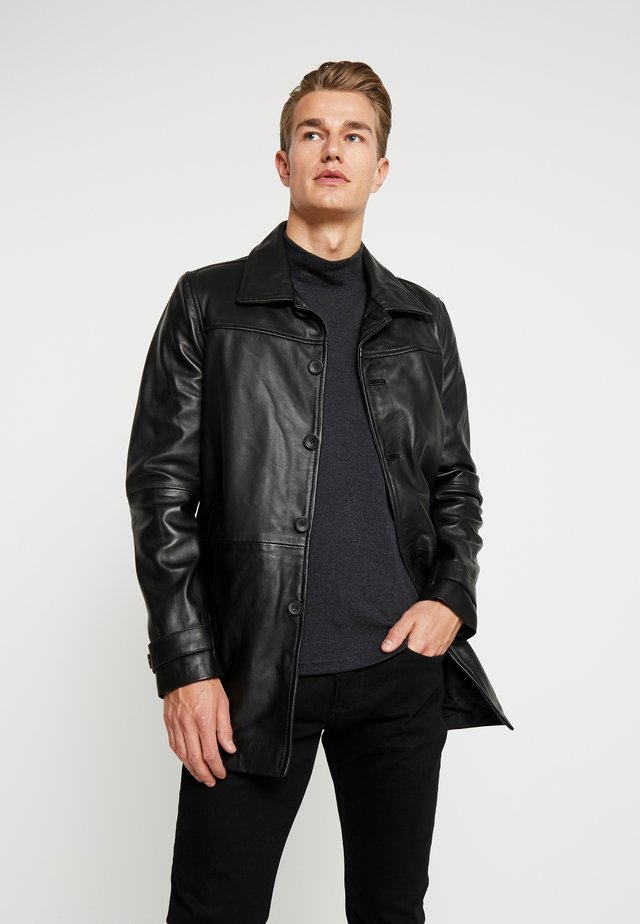 HARRY - Veste en cuir - black