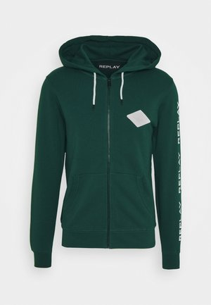 Zip-up hoodie - bottle green