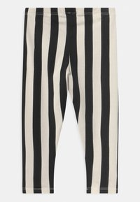 Lindex - VERTICAL STRIPE - Legging - off black - 1
