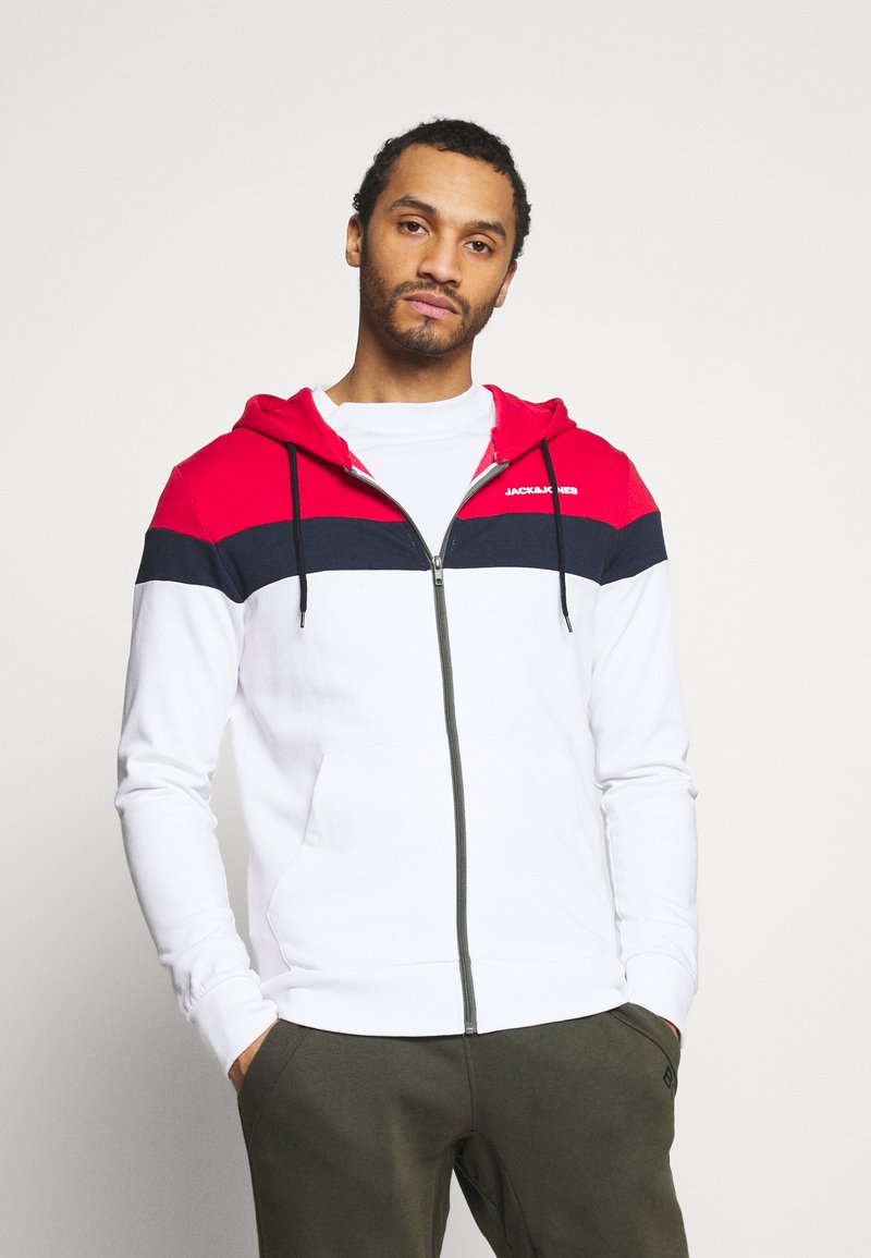 Jack & Jones - JJSHAKE ZIP HOOD - Zip-up hoodie - white