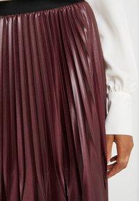 Marella - SUPER - A-line skirt - bordeaux - 5
