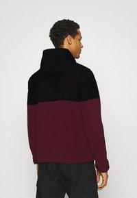 Ellesse - FRECCIA - Fleece jumper - black/burgundy - 2