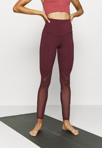 South Beach - INSERT HIGHWAIST LEGGING - Medias - burgundy - 0