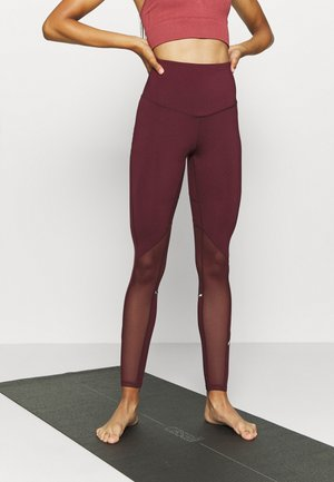 INSERT HIGHWAIST LEGGING - Punčochy - burgundy