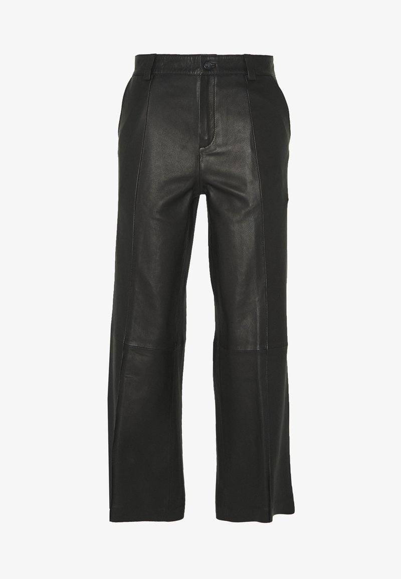 Mos Mosh - Leather trousers - black