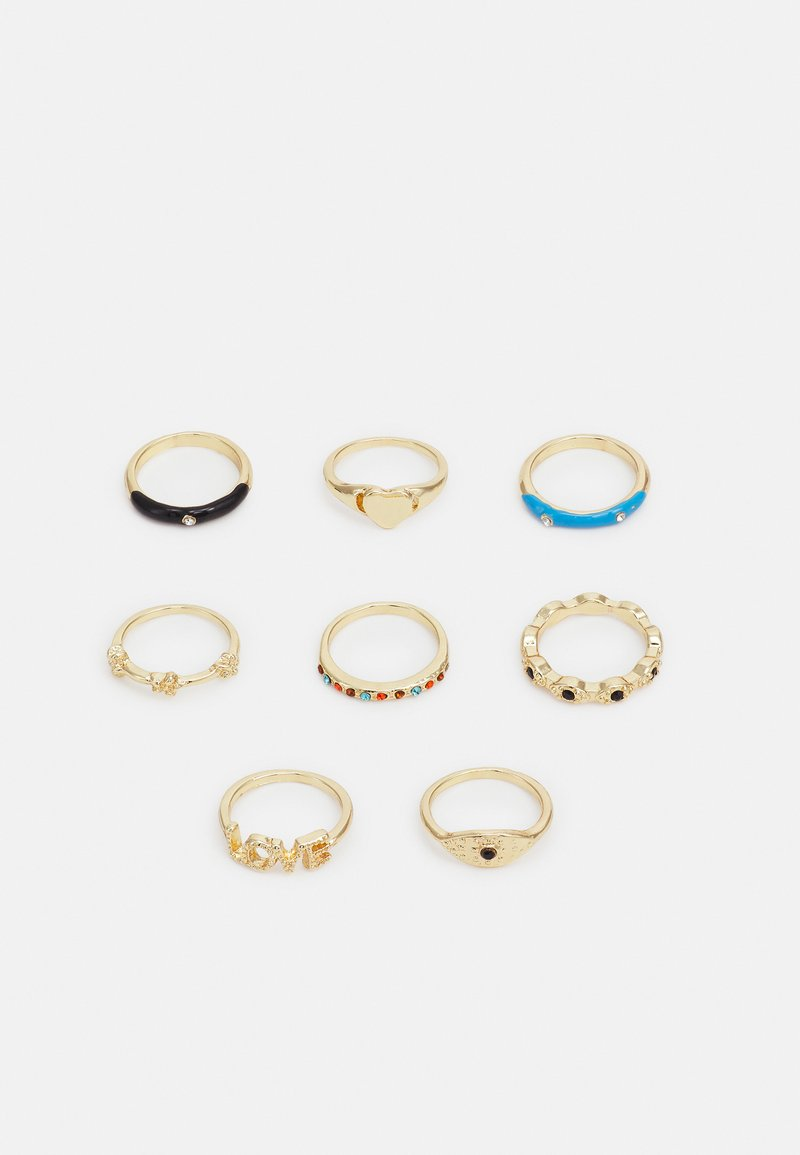 Fire & Glory - ANETTE 8 PACK - Ringar - gold-coloured