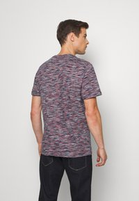 TOM TAILOR - Print T-shirt - navy/neon space - 2