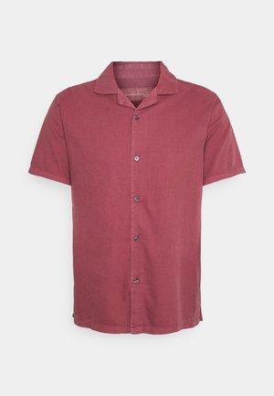 Skjorte - solid dusty burgundy