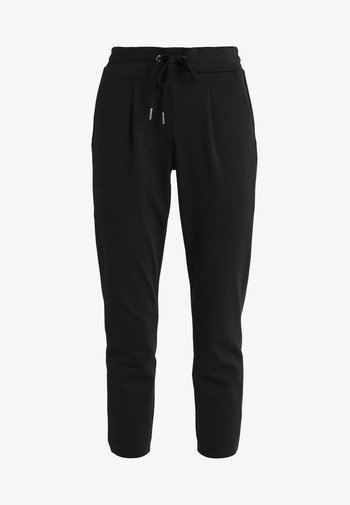 RIZETTA CROP PANTS - Teplákové kalhoty - black