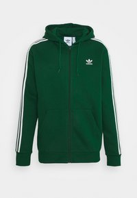 adidas Originals - STRIPES UNISEX - Mikina na zip - dark green - 4