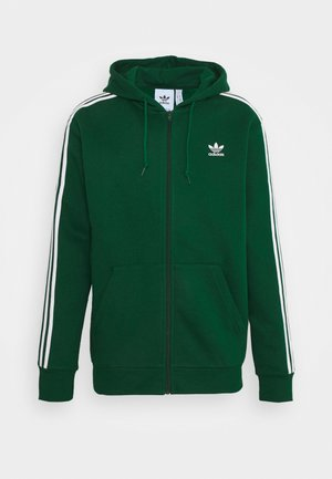 STRIPES UNISEX - Zip-up hoodie - dark green